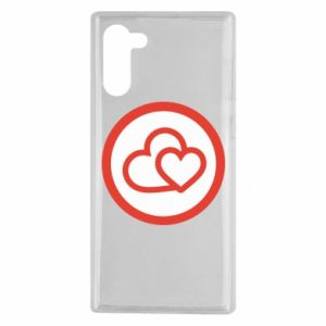 Samsung Note 10 Case Two hearts