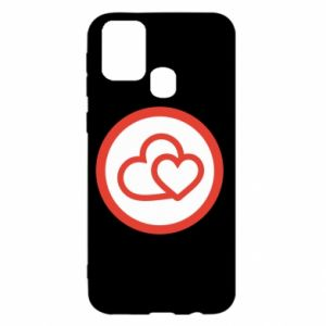 Samsung M31 Case Two hearts