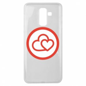 Samsung J8 2018 Case Two hearts