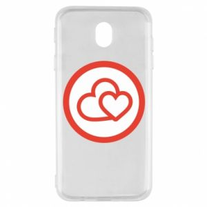 Samsung J7 2017 Case Two hearts