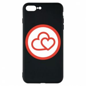iPhone 8 Plus Case Two hearts