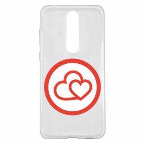 Etui na Nokia 5.1 Plus Dwa serca