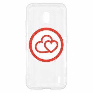 Etui na Nokia 2.2 Dwa serca
