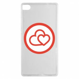 Huawei P8 Case Two hearts