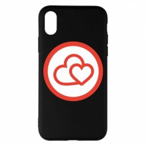 iPhone X/Xs Case Two hearts