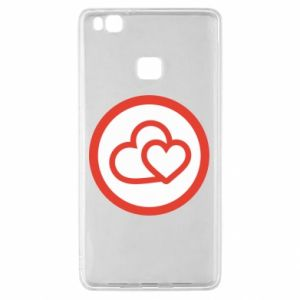Etui na Huawei P9 Lite Dwa serca