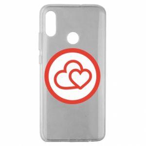 Etui na Huawei Honor 10 Lite Dwa serca