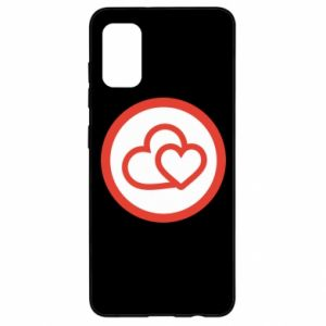 Samsung A41 Case Two hearts