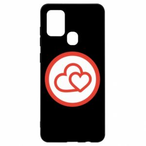 Samsung A21s Case Two hearts