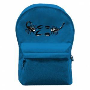 Plecak z przednią kieszenią Dwa skorpiony - PrintSalon