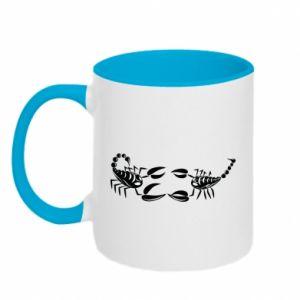 Two-toned mug Two scorpions