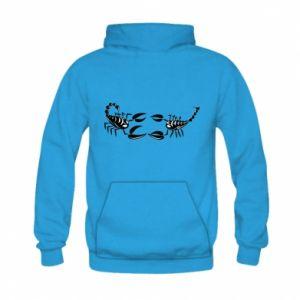 Bluza z kapturem dziecięca Dwa skorpiony