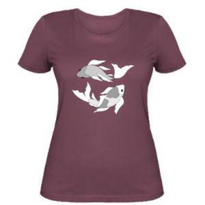 Women's t-shirt Two big fish