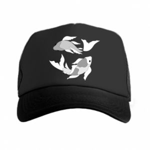 Trucker hat Two big fish