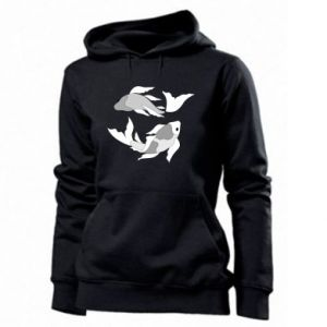 Women's hoodies Two big fish