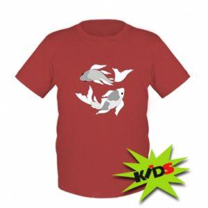 Dziecięcy T-shirt Dwie duże ryby
