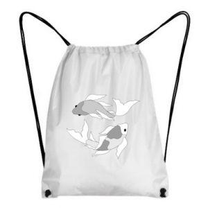 Plecak-worek Dwie duże ryby