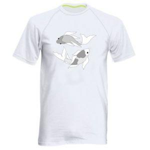 Koszulka sportowa męska Dwie duże ryby