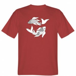 T-shirt Two big fish