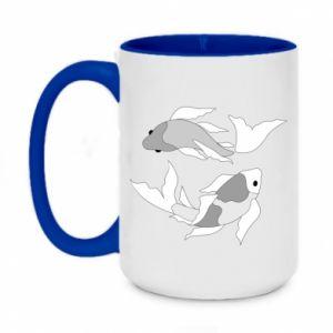 Two-toned mug 450ml Two big fish