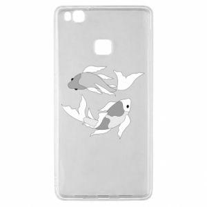 Etui na Huawei P9 Lite Dwie duże ryby