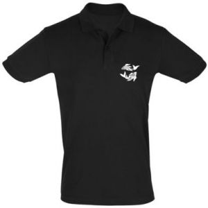 Men's Polo shirt Two big fish