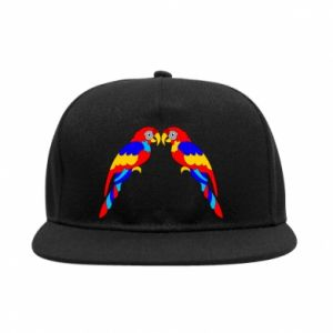 SnapBack Two bright parrots