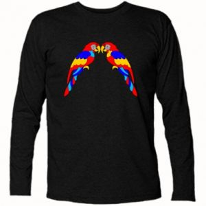 Long Sleeve T-shirt Two bright parrots