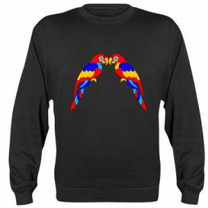 Sweatshirt Two bright parrots