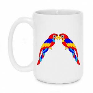 Mug 450ml Two bright parrots