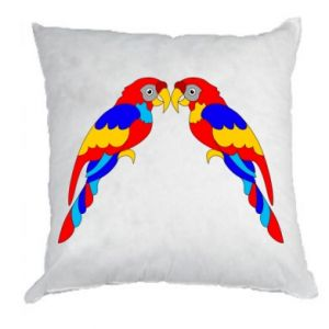 Pillow Two bright parrots