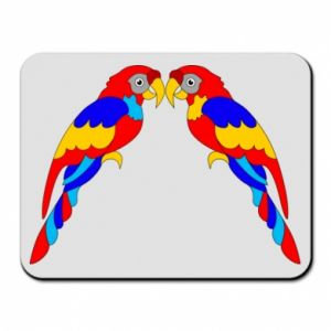 Mouse pad Two bright parrots