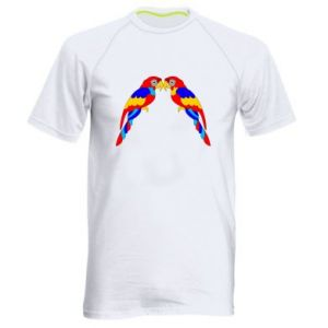Men's sports t-shirt Two bright parrots