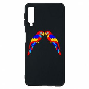 Phone case for Samsung A7 2018 Two bright parrots