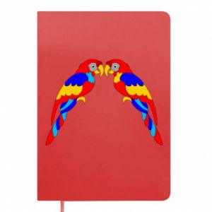 Notepad Two bright parrots