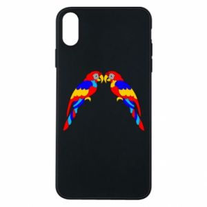 Phone case for iPhone Xs Max Two bright parrots