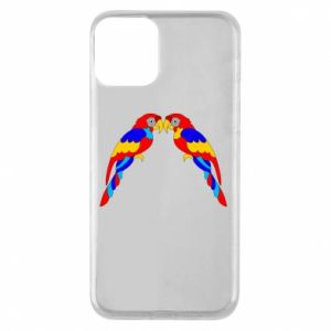 Phone case for iPhone 11 Two bright parrots
