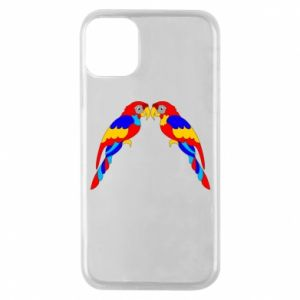 Phone case for iPhone 11 Pro Two bright parrots