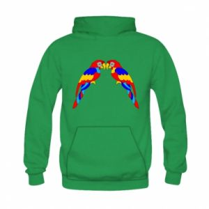 Kid's hoodie Two bright parrots