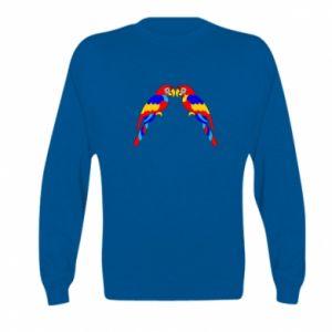 Kid's sweatshirt Two bright parrots
