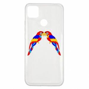 Xiaomi Redmi 9c Case Two bright parrots