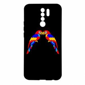 Xiaomi Redmi 9 Case Two bright parrots