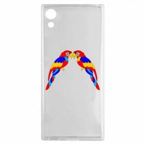 Sony Xperia XA1 Case Two bright parrots