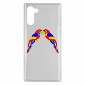 Samsung Note 10 Case Two bright parrots