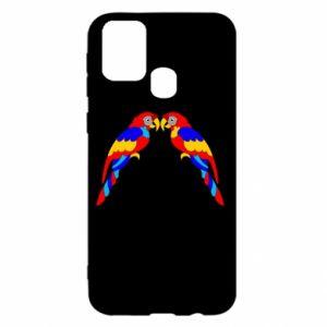 Samsung M31 Case Two bright parrots