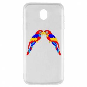 Samsung J7 2017 Case Two bright parrots