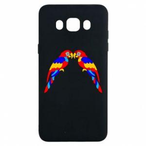 Samsung J7 2016 Case Two bright parrots