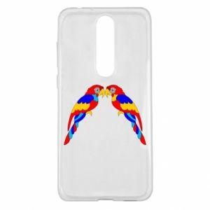 Nokia 5.1 Plus Case Two bright parrots