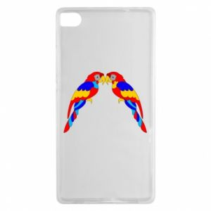 Huawei P8 Case Two bright parrots