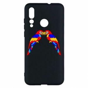 Huawei Nova 4 Case Two bright parrots